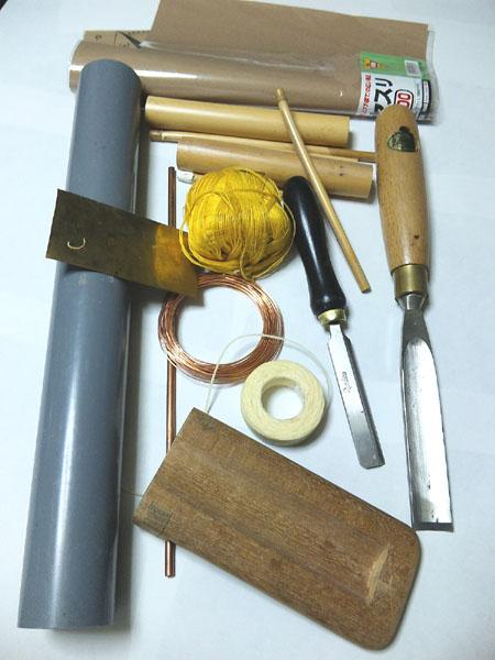 リード作りの材料と道具