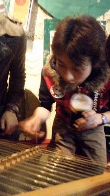 ビール飲みながらのレクチャー(^_^.)