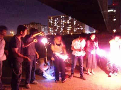 淀川で花火