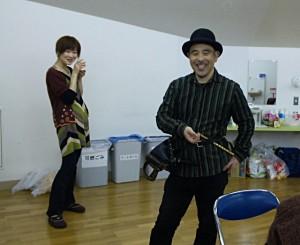 藤沢さん、鉄心さん。 とってもミュージシャンって感じ。