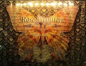 ロゼパピヨン、お店のロゴ