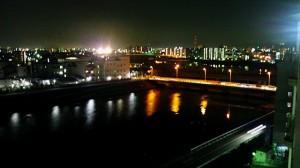 自宅前夜景