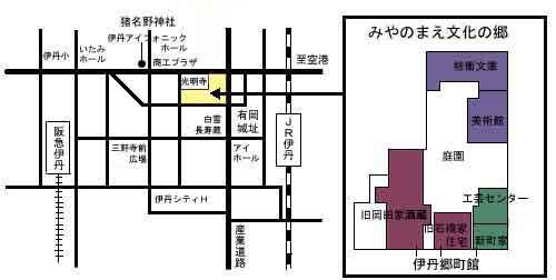 旧岡田家酒蔵地図