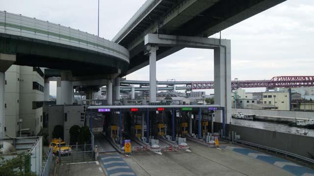 阪神高速天宝山入り口