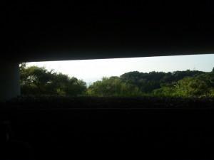風穴からの眺め。