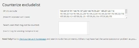 WordPressのプラグイン、CounterizeⅡにカウントしないIPアドレスを設定する